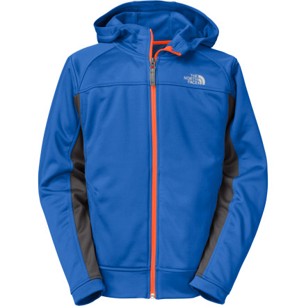 More than just your average sweatshirt, The North Face Boys' Surgent Full-Zip Hoodie comes packed with adventure-ready features that will keep your little monster comfortable while he wreaks havoc on the neighborhood. - $54.95