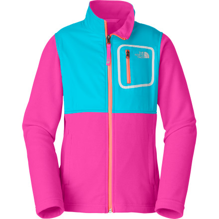 Fitness Reach for The North Face Girls' Glacier Track Jacket on cool, spring afternoons when you head to the park to meet your friends or ride your bike to your cousin's house. This lightweight fleece jacket provides comfortable warmth against the spring chill and wears well beneath your shell as a layering piece. - $54.95