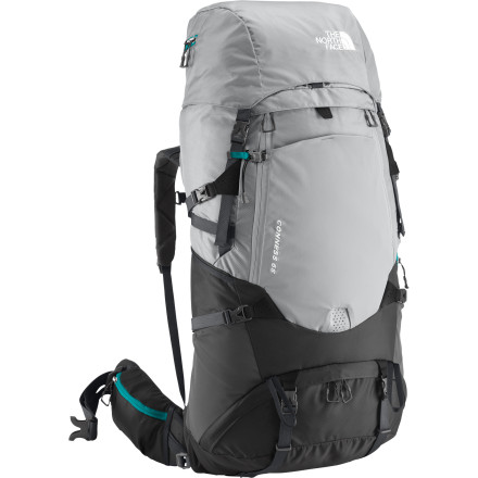 Camp and Hike If there's one thing  that The North Face Conness 65 Backpack focuses on, it's fit. The Conness is not only built around a women-specific frame, it's totally adjustable so it fits your specific body perfectly. The North Face's proprietary X-Radial frame is extremely strong, lightweight, and keeps your load super-stable for the most comfortable carry possible, no matter the size of the load or the size of your torso. - $298.95