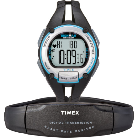 Fitness Keep your training regimen on track with the Timex Womens Ironman Road Trainer Digital Heart Rate Monitor. This sleek, mid-sized watch tracks vital information like the time youre spending in your pre-set desired heart rate exercise zone, and lets you know when youre above or below that zone. After an interval or a workout, the recovery heart rate timer measures your recovery time, and lets you know what your average heart rate was over a lap or through the workout, how long you spend in the target zone, and even how many calories you burned. - $87.96