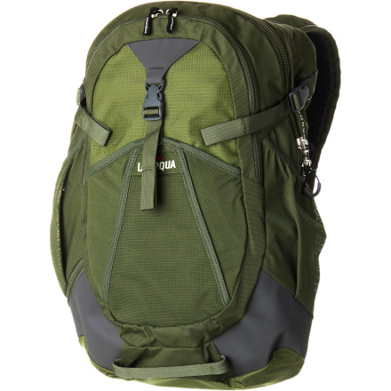 Camp and Hike Whether you're headed to the office, to school, or to a backcountry trout stream, the Umpqua Surveyor 1100 is the only backpack you'll need. The padded laptop sleeve can be removed when casting for cutthroats is the only business of the day, and the hide-away rod sling allows you to easily pack two rod tubes on the side of the pack. - $179.95