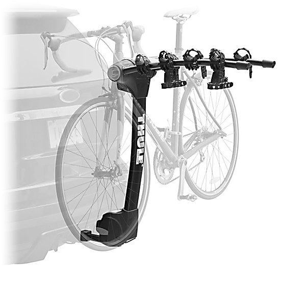Kayak and Canoe Thule Vertex 4-Bike Bike Rack - The Thule Vertex 4-Bike Bike Rack offers an easy and safe way to transport your bikes. With its newly designed Arc Design you'll have no trouble loading and unloading your bike from the Vertex. Hold Fast Cradles help cushion the bike and provide the highest level of security and Anti-Sway Cages makes the possibility of the bikes coming in contacting with one another or one of the bikes scratching your car a virtual impossibility. The Hitch Switch tilts the carrier away from the vehicle so you have greater accessibility to the trunk or your tailgate. The Hitch Switch also folds the arms down for convenience when not in use. Stop fussing with bike carriers and relieve the fear of transporting your bike to cool new locations and start using the Thule Vertex 4-Bike Bike Rack. . Mount Type: Hitch, Bike Capacity: 4, Fork Mount: No, Model Year: 2013, Product ID: 265629, Shipping Restriction: This item is not available for shipment outside of the United States. - $251.95