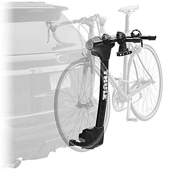 Kayak and Canoe Thule Vertex 2-Bike Bike Rack - The Thule Vertex 2-Bike Bike Rack offers an easy and safe way to transport your bikes. With its newly designed Arc Design you'll have no trouble loading and unloading your bike from the Vertex. Hold Fast Cradles help cushion the bike and provide the highest level of security and Anti-Sway Cages makes the possibility of the bikes coming in contacting with one another or one of the bikes scratching your car a virtual impossibility. The Hitch Switch tilts the carrier away from the vehicle so you have greater accessibility to the trunk or your tailgate. The Hitch Switch also folds the arms down for convenience when not in use. Stop fussing with bike carriers and relieve the fear of transporting your bike to cool new locations and start using the Thule Vertex 2-Bike Bike Rack. . Mount Type: Trunk, Bike Capacity: 2, Fork Mount: No, Model Year: 2013, Product ID: 265630, Shipping Restriction: This item is not available for shipment outside of the United States. - $239.95