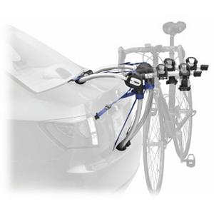 Kayak and Canoe Thule Gateway 3 Bike Rack - This robust rear mounted bike carrier features long dual arcing tubes providing greater clearance over rear spoilers and maximizing the amount of vehicles it can work with. The Gateway uses Thule's patented FitDial with a Quick-Fit lever to adjust the rack to your vehicle for a perfect fit. Maximum strength nylon straps secure the bike rack assuring the safest and most convenient installation for your car. That being said, Thule also made sure to position the arms so that there is ample space between bikes during transport. Stay-Put cradles are made with soft-saddle material to protect your bike's finish. When winter hits the Gateway bike rack folds flat for convenient storage, now if only your bikes would take up less garage space. This version holds up to three bikes. . Mount Type: Trunk, Bike Capacity: 3, Model Year: 2013, Product ID: 217305, Shipping Restriction: This item is not available for shipment outside of the United States. - $152.95