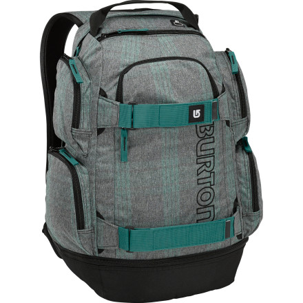 Camp and Hike Prepare yourself for all your summer adventures with the Burton Distortion Women's Backpack. A padded laptop compartment keeps your computer safe while you skate to school for summer classes, and adjustable straps hold your deck when you get there. When classes let out, cruise down to the skatepark and trade out those sandals you wore to school for your skate kicks that you packed into the shoe storage pocket. - $64.95