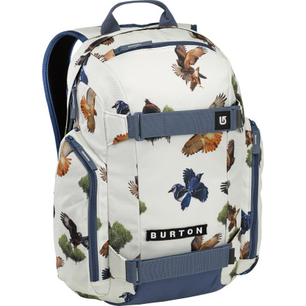 Camp and Hike You'll be a regular party on wheels when you roll up with the Burton Metalhead Women's Backpack. It has a padded laptop compartment so you can keep your computer safe when you skate down to the hangout spot; once you get there, pull out your laptop and get some tunes going while you pass out cold beers from the internal cooler pocket. - $54.95