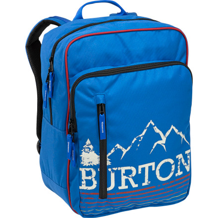 Camp and Hike Send your little hero back to school in style with the Burton Sidekick Kids' Backpack. A large main compartment and a front pocket with internal organizers help him keep his books and supplies in order, and the mountain print on the front shows everyone where he learned to fly. - $29.95