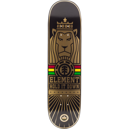 Skateboard The Element Thriftwood Rasta Skate Deck is made by way of dust from Zion, Babylon, and of course, Thriftwood seven-ply maple from Element's factory. - $49.95