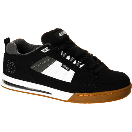 Skateboard The etnies Layered Airbag Skate Shoe packs plenty of cush without feeling too bulky, thanks to a three-quarter length air insert, fully padded tongue, and STI foam footbed. - $71.96