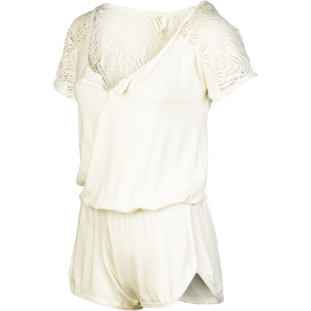 Entertainment Whether you have a bachlorette party to attend in Vegas or a hot date, look to the L Space Women's Marquee Romper to accentuate your curves and show off your chic sense of style. Part of The Collection by L Space, the Marquee wears well with wedges and chunky bracelets. - $168.95