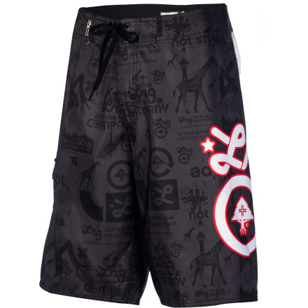 Surf Be an icon of style in these dark times with the LRG CC Icon Men's Board Short. It has an eye-catching print without being too loud, and the polyester fabric is comfy and dries quickly. - $48.95