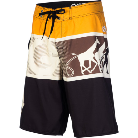 Surf Stay ahead of the pack with the LRG CC Stampede Men's Board Short as you paddle out to catch the next set. After you slay the best wave of the day, relax on the beach in comfort thanks to the soft megasuede fabric. - $53.95