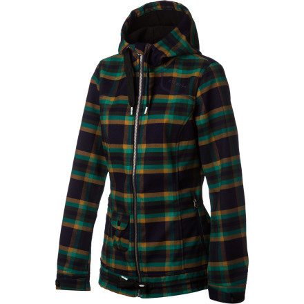 Surf Other fleece jackets may keep you warm when conditions are good, but when the wind starts whipping and the snow is coming down, you're going to wish you had the O'Neill Roselite Women's Fleece Jacket. That's because it's made with a DWR-treated softshell fabric that blocks out wind and water to keep you dry and warm. - $89.97