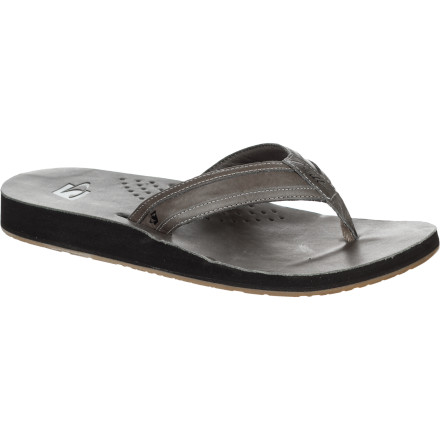 Surf Soak up the sun in comfort and style with the O'Neill Captain Jack Men's Flip-Flop. The EVA midsole provides a cushy feel and the leather upper conforms to your feet over time for a comfy custom fit, and it has a classy look so there's no need to change footwear when you head from the beach to the restaurant for a fancy seafood dinner. - $44.76