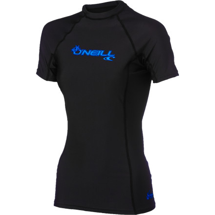 Surf With performance-oriented fit and four-way stretch comfort, the O'Neill Women's Basic Skins Crew Rashguard delivers serious-surfer quality at a value price. It dries quickly, protects against the sun with UPF 50, and features flatlock seams and paddle-zone seamless comfort. - $27.95