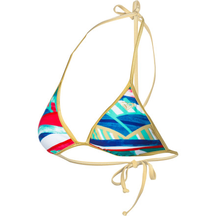 Surf Roxy Golden Maze Fixed Tri Bikini Top - Women's - $40.00
