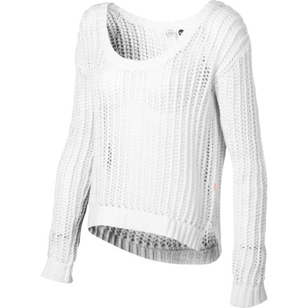 Surf Slip the Roxy Women's Shadow Holly Sweater on when you want a little warmth on cool spring days, but you don't want to wear a heavy, itchy wool sweater. This stylish little sweater is cozy and cute, and it will look great with jeans when you want a look that casual and polished. - $41.93