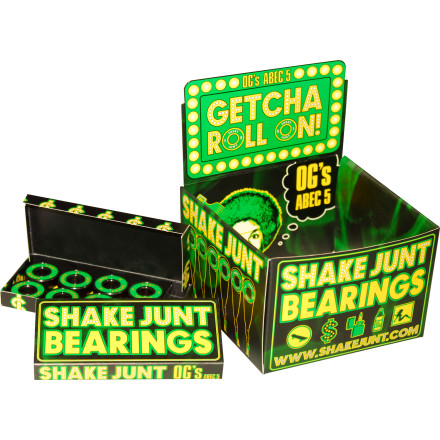 Skateboard Use the Shake Junt ABEC 5 Skate Bearings to propel yourself into a whole new stratosphere of speed. Aren't they purty - $11.16