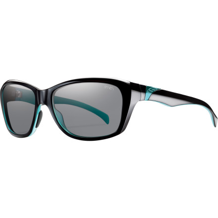 Camp and Hike The Smith Women's Spree Polarized Sunglasses give you a classic, sporty look with just a touch of glam. Wear these glasses when you're going straight from a volleyball tournament to a five-star restaurant for lunch. - $118.95