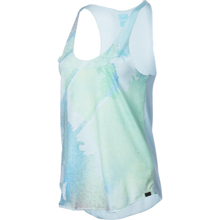 Skateboard Keep cool while looking good in the Vans Watercolor Women's Tank Top. It has a light cotton fabric and a loose drape for a breezy feel to help you beat the heat. - $22.36