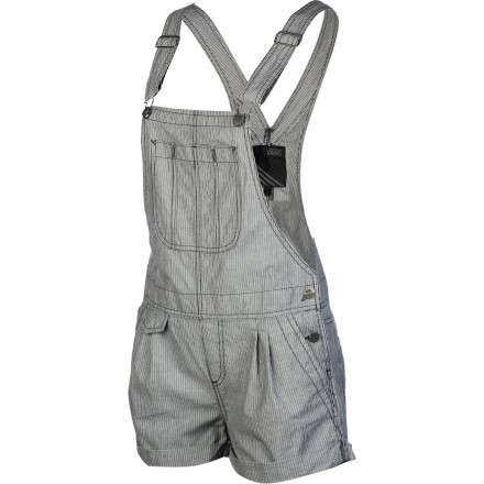 Skateboard Overalls ain't just for the farm anymore. Add some countryside style to your wardrobe this summer with the Vans Conductor Women's Short. Suspenders provide a good fit and the classic overall style, while a short inseam still lets you show some leg. - $29.95