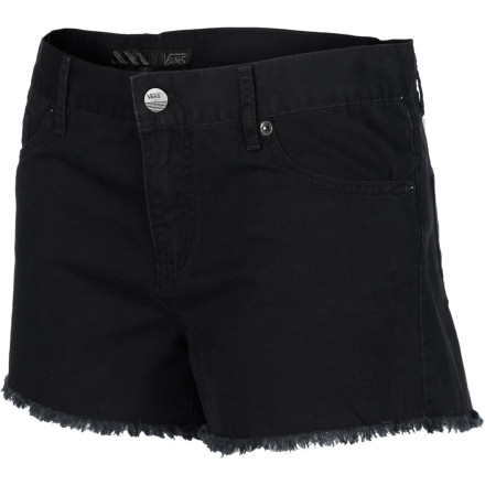 Skateboard The Vans Women's Beach Bound Shorts throw off that too-cool-to care feel that is perfect for summer parties in the backyard when you want to throw your hair back and through a few drinks back. Wear these shorts with flip flops and a and a little bit of an attitude. - $20.87