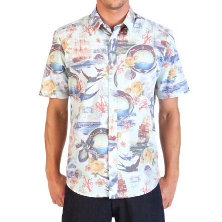 Surf Volcom Ol' Shipster Short-Sleeve Shirt - $59.45