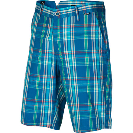 Surf It may be getting too warm to wear your favorite flannel, but you can keep the plaid vibe going all summer with the Volcom Rushy Men's Plaid Short. - $24.73