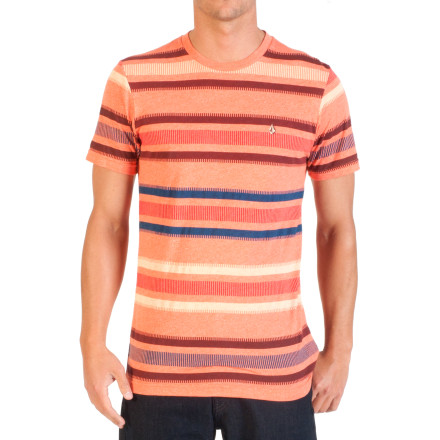 Surf Volcom Kinetic Stripe Slim T-Shirt - Short-Sleeve - Men's - $26.95