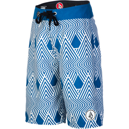 Surf Put your boy in the Volcom 45th St Boys' Board Short and take him down to Manhattan Beach for his first surf lesson. The stretchy Super Suede fabric will keep him comfy throughout the day and won't restrict his movement when he's ready to catch that first wave. - $36.95