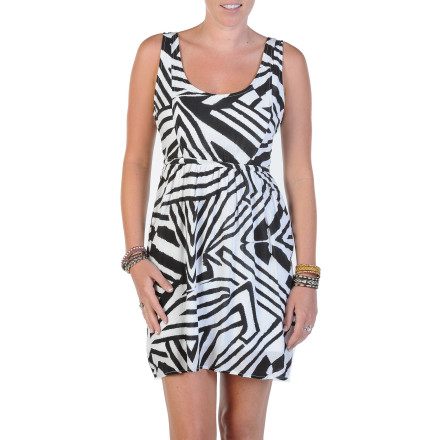 Entertainment Now that the weather's warm, it's time to soak up the sun in the Volcom Collage It Women's Dress. It's made with rayon slub fabric for a luxurious look and feel, and it has a mid-thigh length to let you show off some leg. - $36.37