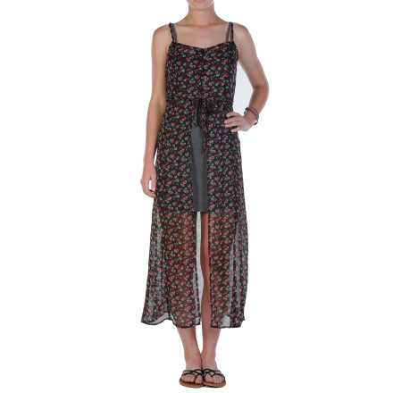 Entertainment You're sure to be the belle of the ball when you show up in the Volcom Rewind Me Maxi Women's Dress. The chiffon dress has a gorgeous sheer appearance, and a comfy slip adds depth and comfort to the piece. Whether it's a formal occasion or an afternoon picnic, you'll be feeling good and looking even better. - $48.62