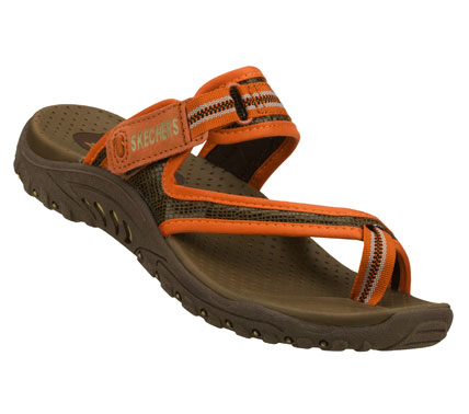 Kayak and Canoe Come for the comfort; stay for the style with the SKECHERS Reggae - Kayak sandal.  Print fabric and web fabric upper in a sporty casual toe ring comfort thong sandal with stitching accents. - $45.00