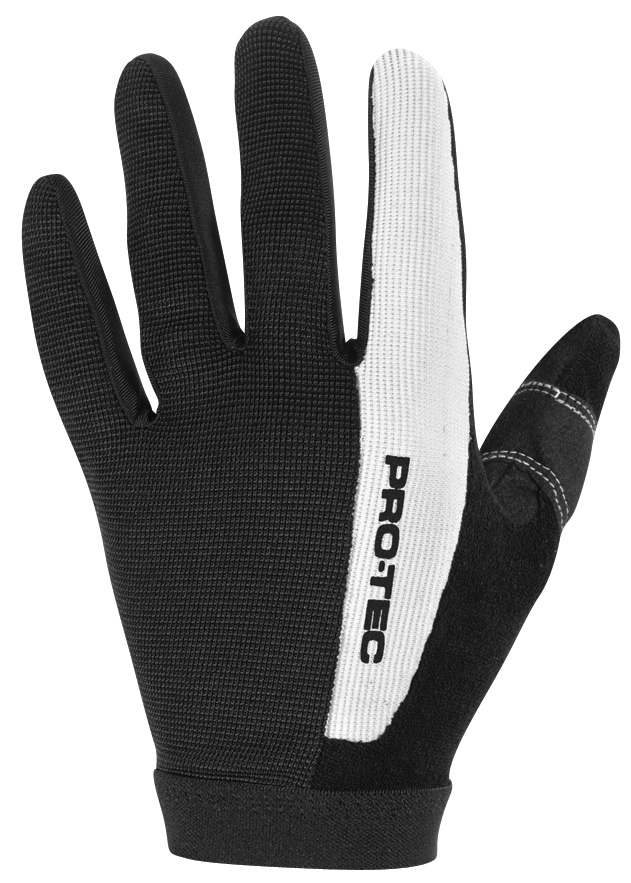 Fitness The Pro-tec Hi-5 is a slim-fitting, lightweight glove that provides exceptional grip and bar feel. A dual-layer synthetic leather palm section helps keep a grip on reality, while the lightweight corded nylon upper aids in ventilation.Key Features of the Protec Hi-5 Bike Gloves: Elastic wrist closure Nylon pull tab UPPER: Corded nylon, Terry cloth on thumb (snot rag) PALM: Dual-layer synthetic leather palm, Silicone on trigger fingers and thumb - $25.95
