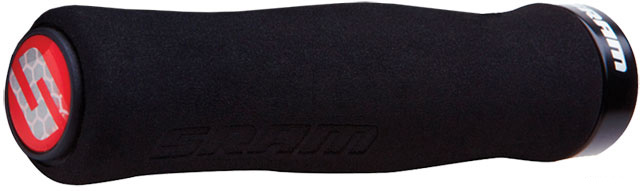 Fitness Sram Locking Foam Contour Grips W/ Single Clamp And End Plugs Black 129mm - $18.95