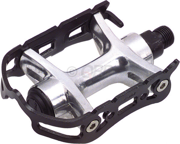 "Fitness Wellgo 888 Caged Road Pedals.Key Features of the Wellgo 888 Alloy Quill Pedals Black 9/16"": Aluminum body and cage Loose ball bearings Pedal Type: Toe Clip Compatible Intended Use: Road Pedal Spindle: 9/16"" Spindle Material: Chromoly Material: Aluminum Defined Color: Black Color: Black Weight: 470.0 g Wght/Dims: 1.04 lbs. 6 x 4.512 x 2.75 - $22.95"