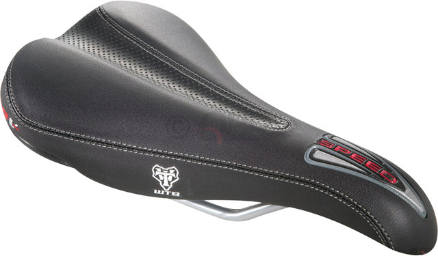 Fitness WTB Speed V saddles utilize a shock-absorbing Soft-Shell elastomer frame and high-set padding to provide maximum comfort. The mid-width, mid-length size fits many riding and body typesKey Features of the Wtb Speed V Comp Steel Rail Saddle Black: Soft-shell with Comfort Zone Defined Color: Black Color: Black Rail: Steel Clamp Style: Std Rails Length: 265 mm Width: 142 mm Weight: 380.0 g Gender: Men's Wght/Dims: .91 lbs. 11.5 x 6 x 2.5 - $40.95