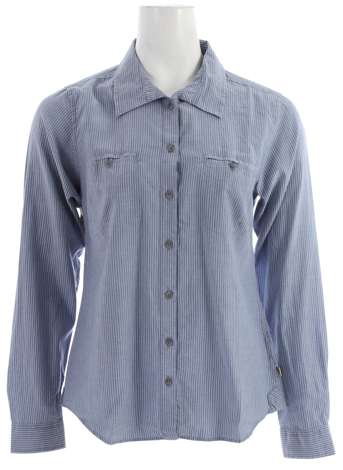 Toad & Co Sun Stripe L/S Shirt Lapis - $41.95