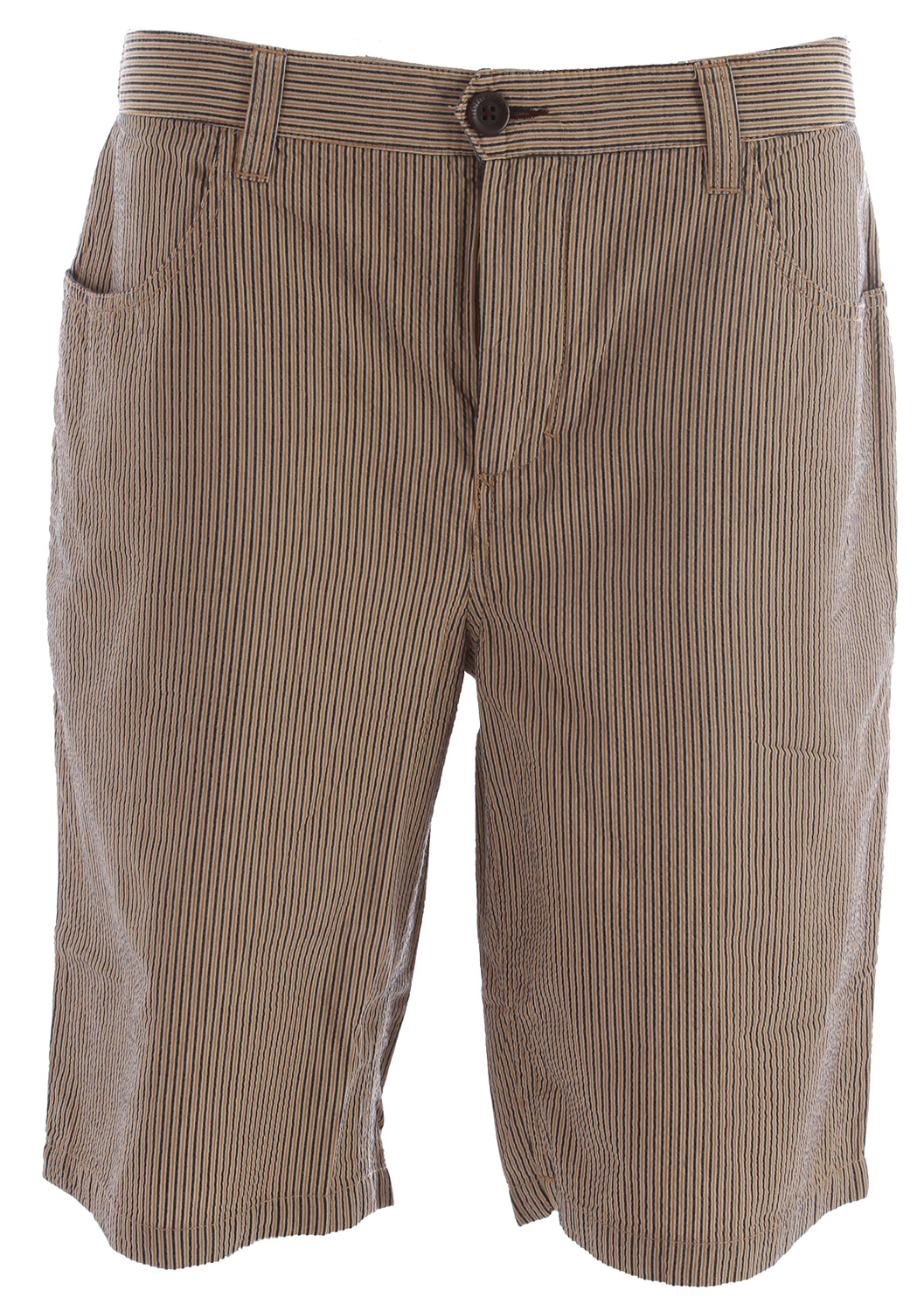 Key Features of the Horny Toad Seersucka Shorts: Fabric: Seersucka Is 100% Organic Cotton Zip Fly With Button Closure Drop-In Front Pockets, One With Pocketin-Pocket Double-Welt Back Pockets With Button Closure 11? Inseam - $47.95
