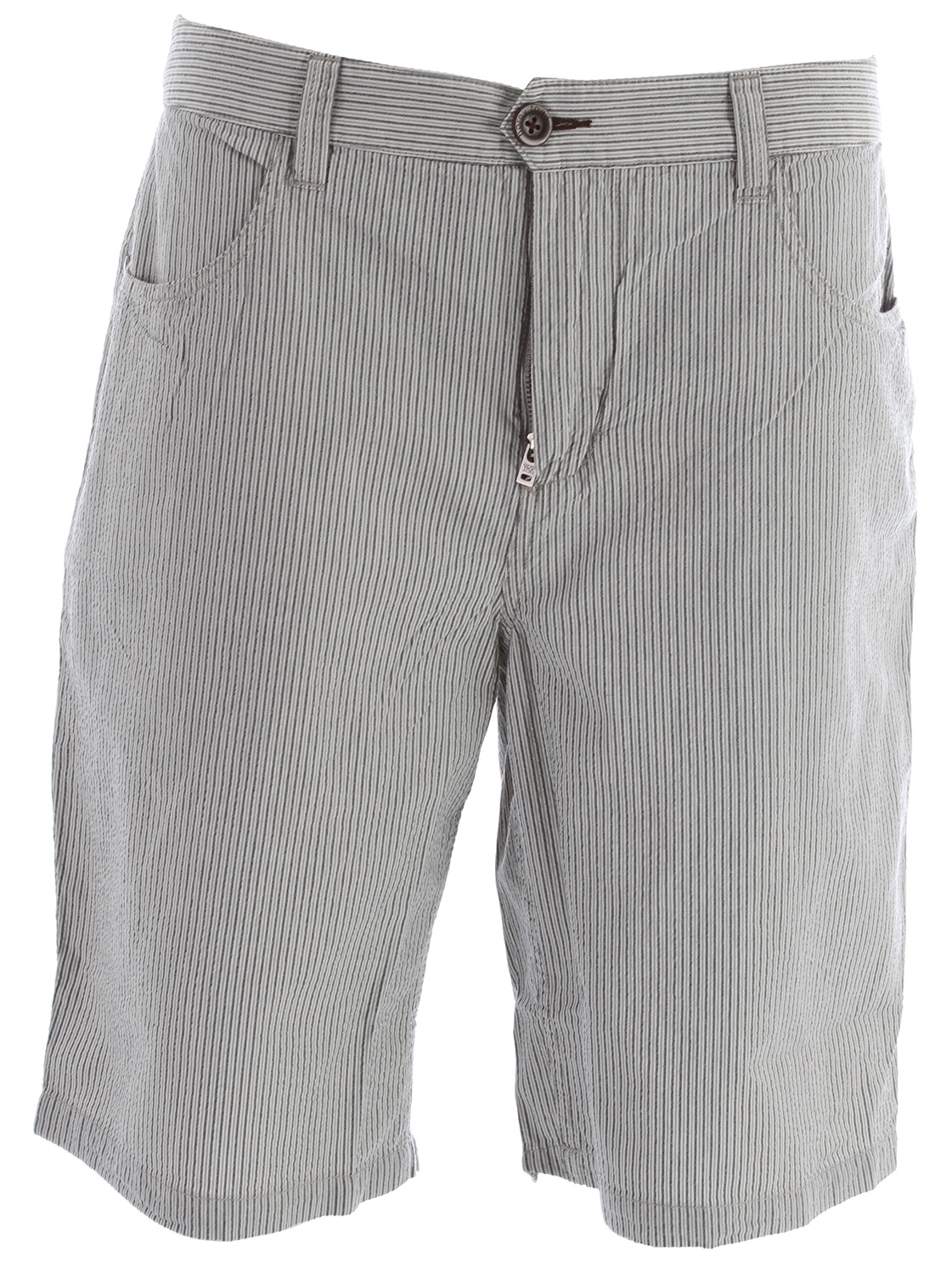 Key Features of the Horny Toad Seersucka Shorts: Fabric: Seersucka Is 100% Organic Cotton Zip Fly With Button Closure Drop-In Front Pockets, One With Pocketin-Pocket Double-Welt Back Pockets With Button Closure 11? Inseam - $69.00