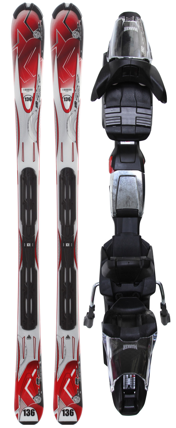 Ski Make a statement and take the slopes by storm with the K2 Strike Skis w/ Marker Fastrak3 10.0 Bindings. This ski and binding combo is attractive and practical not to mention fierce and screaming your name! Key features of this awesome combo include a torsion box composite cap construction, aspen core, rental tip protector, rental top, rental steel, rental base and MOD technology. Performance is groomed 80% and ungroomed 20% and the radius is 16m.Key Features of the K2 Strike Skis w/ Marker Fastrak3 10.0 Bindings:  PERFORMANCE: Groomed 80%/Ungroomed 20%  SIZES: 124, 136, 146, 153, 160, 167, 174, 181  CONSTRUCTION: Torsion Box Composite Cap  Aspen Core  RADIUS: 16m @ 167  BINDING OPTIONS: Fastrack3 10.0  Features: MOD Technology, Rental Tip Protector, Rental Top, Rental Steel, Rental Base  Catch Free Rocker  112/70/97 - $252.95
