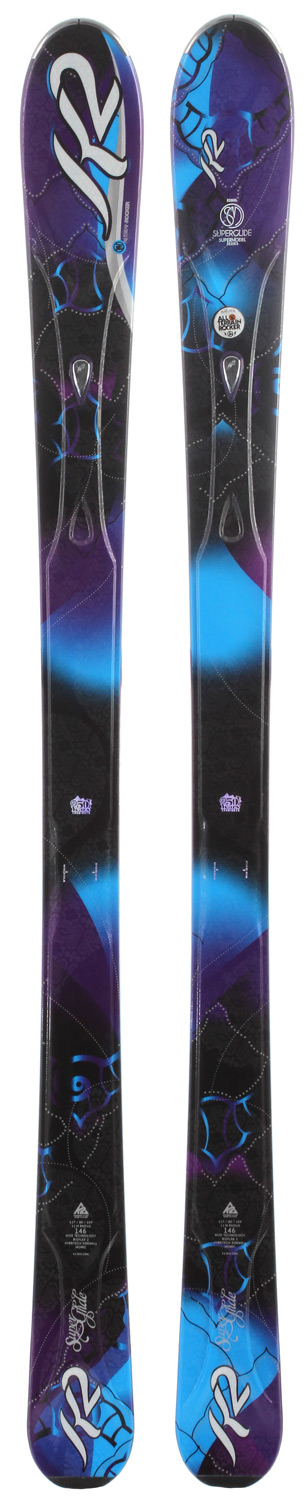 Ski An all-new model in the women's collection, the SuperGlide has been developed for expert skiers who split their time between firm snow and soft. The ski's versatility stems from its All-Terrain Rocker profile and a lightweight yet responsive design mixed with an optimum waist width for a wide variety of conditions and pitches.Key Features of the K2 Superglide Skis: PERFORMANCE: Groomed: 40%, Ungroomed: 60% SIZES: 146, 153, 160, 167 CONSTRUCTION: Hybritech Sidewall, Triaxial Braided, Bioflex 2 Core RADIUS: 13m@160 All Terrain Rocker 127/80/109 - $243.95