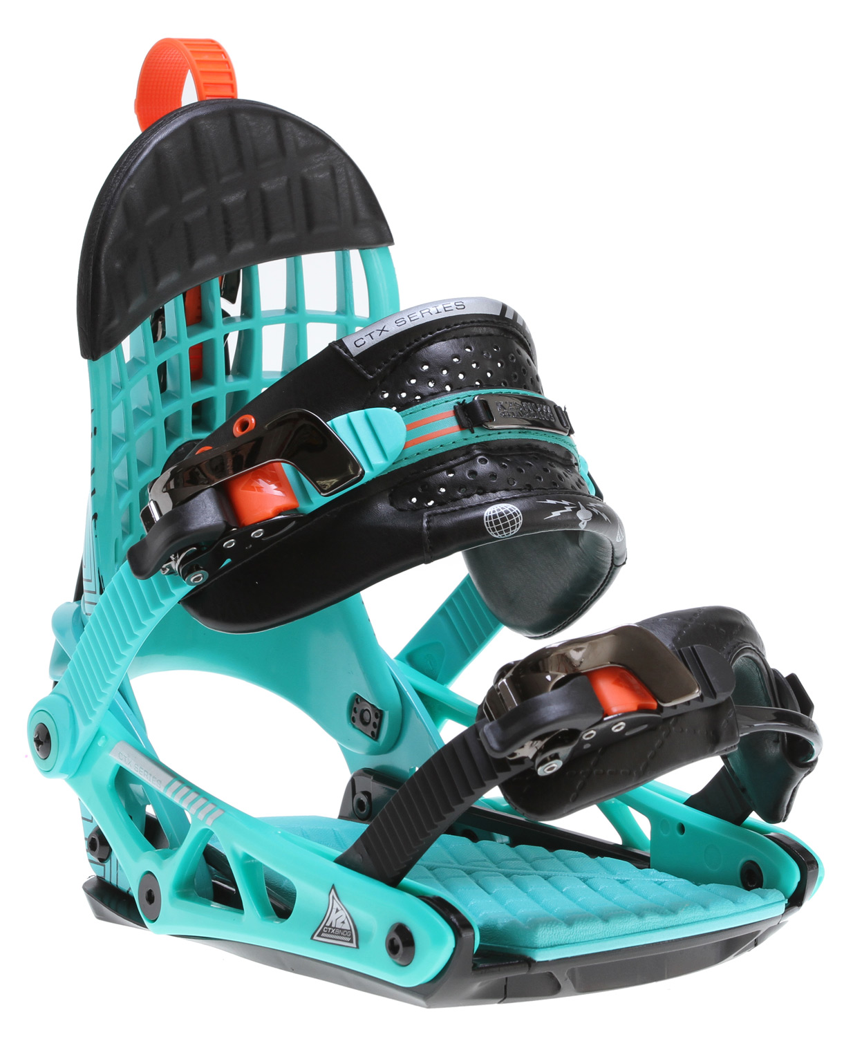 Snowboard The 2012-2013 K2 Cinch CTX combines top-end K2 binding tech with the patented Cinch System. Harshmellow cushioning and canted footbeds usher the CTX into a class all it's own. The CTX is made for the rider looking to ride the mountain in a high-end binding that performs like a high end AWD sports coupe.Key Features of the K2 Cinch CTX Snowboard Binding: CHASSIS: Cinch C2 HIGHBACK: Cinch Airlock ANKLE STRAP: Thin Cored Caddi STRAP FEATURES: Cam-Lock Centering TOE STRAP: Tool-Less Universal - $179.95