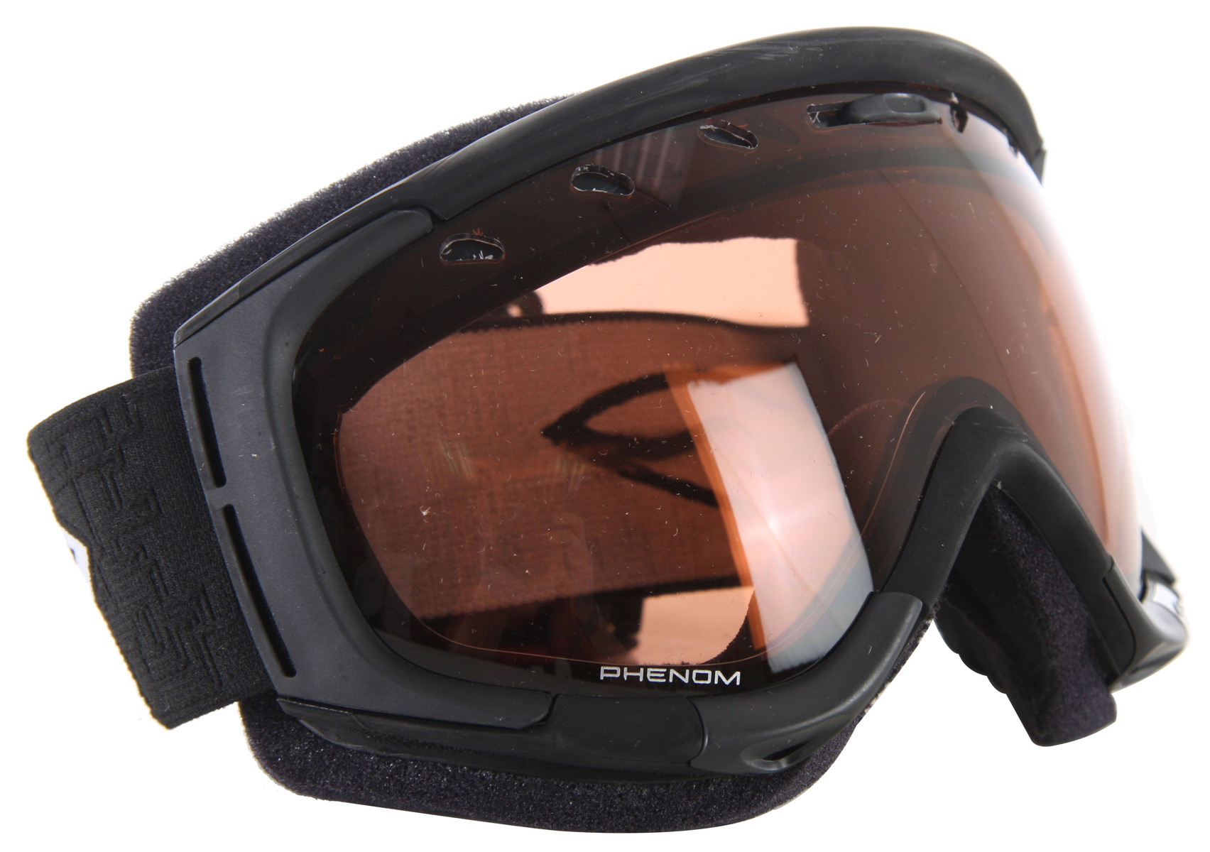 Snowboard Uncompromising in its design, the Phenom packs superior technology and maximum customization into our best fitting goggle ever. RC36 Lens.Key Features of the Smith Phenom Snowboard Goggles: Medium Fit Spherical, Carbonic X Lens with TLT Optics Painted Vaporator Lend Technology with Portex Filter Painted Regular adjustable Lens Ventilation Articulating outrigger positioning system Interchangeable Hop-up Kits Ul - $77.95