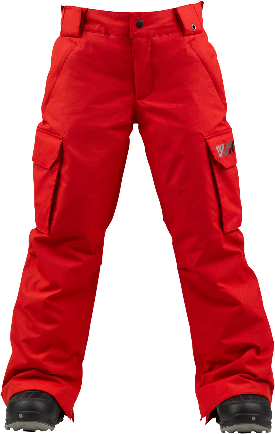 Snowboard The most waterproof pant in the line with versatile warmth and room for all your junk.Key Features of the Burton Exile Cargo Snowboard Pants: 10,000mm Waterproof 10,000g Breathability Waterproofing: DRYRIDE Durashell 2-Layer Twill Fabric and NEW Aquapel DWR Coating Warmth: mapped with Thermacore Insulation [60G Throughout] and Taffeta Lining Mesh-Lined Inner Thigh Vents Velcro Closure Back Pockets Zippered Handwarmer Pockets Cargo Pockets Includes Boys' Pant Features Package - $74.95