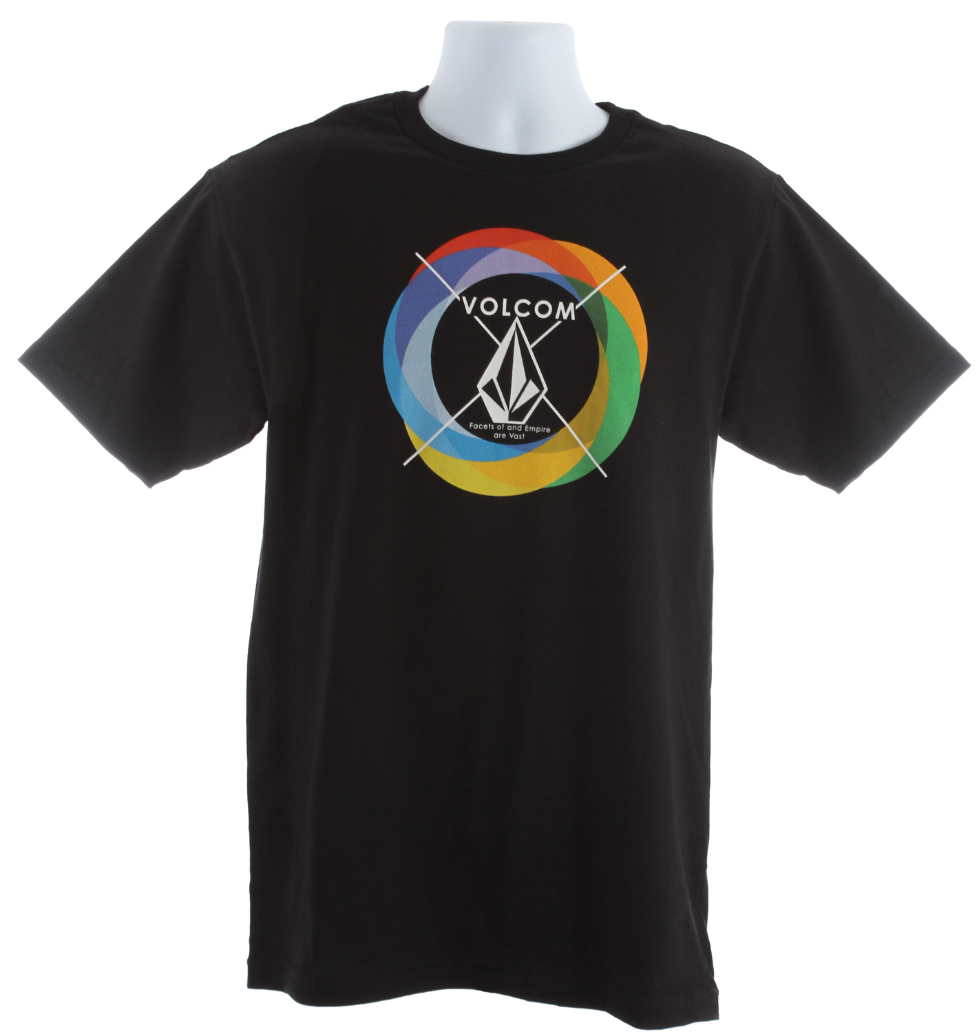 Surf Key Features of the Volcom Round Rainbow T-Shirt: Basic screenprint Basic fit 100% cotton - $14.95