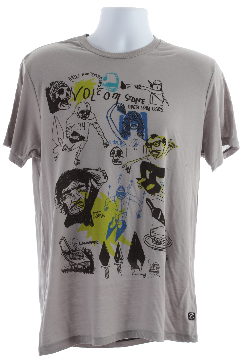 Surf Key Features of the Volcom Shawn Higgins FA T-Shirt: Basic Screenprint Modern Fit, contrast neck tape 100% recycled polyester (Silver & Black) 100% organic cotton (White) - $17.95