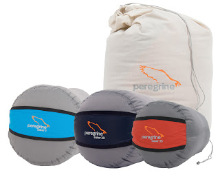 Camp and Hike New sleeping bags made by Peregrine.