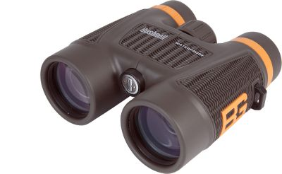 Hunting The Bear Grylls 10x42 binoculars by Bushnell give you the same edge as the famous wild man. Showcasing BaK-4 prisms and multicoated optics for ultrasharp images from edge to edge. Twist-up eyecups for eyeglass wearers. Waterproof construction maintains your view when conditions get wet. Includes embroidered carry case, lens cloth and neck strap. Color: Brown/Orange. Type: Full-Size. - $82.88