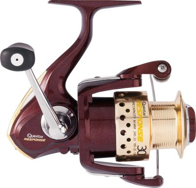 Fishing Quantum Response spinning reels offer professional-grade features in an inexpensive, lightweight package. An ultrathin graphite body is the heart of an ultralight, ultrastrong platform for this smooth-operating, six-bearing reel. The aluminum Long Stroke spool is designed for accurate, long-distance casting. Front-adjustable drag offers anglers instant access and a wide range of control. The Continuous Anti-Reverse ensures rock-solid hooksets. Light, yet strong, machined-aluminum handle. The aluminum butt cap and side cover add strength to the design without adding weight. - $14.99